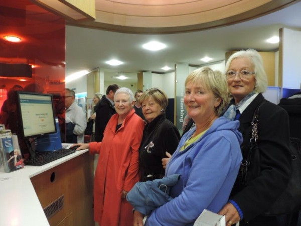 Silver surfers at midleton bank of ireland