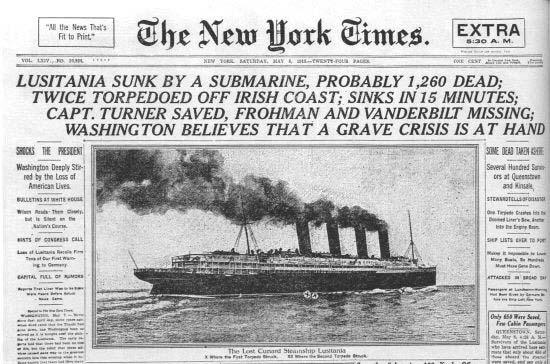 Lusitania commemoration